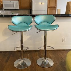 vintage baby blue and chrome bar stools for Sale in Los Angeles,  CA