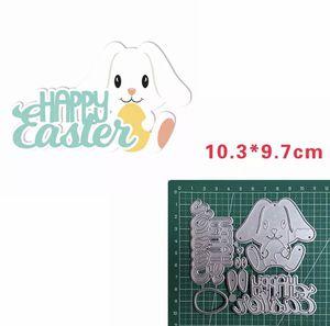 Happy Easter Bunny Metal Die Cut for Sale in Elizabethton, TN