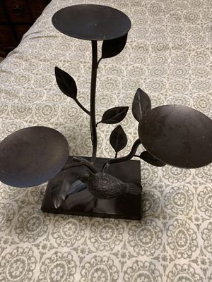 Iron candle holder with bird for Sale in Nashville, TN