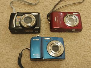 Nikon and Kodak Digital AA Battery Cameras 12mp 10mp 6mp for Sale in Kenmore, WA