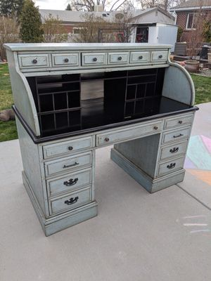 Rustic shabby chic style roll top desk one of a kind! for Sale in Littleton, CO