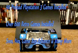 PS3/Playstation 3 Custom Built With Over 600 Games Installed for Sale in Glendale, AZ