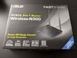 ASUS RT-N12 Wireless-N300 3-in-1 Router/AP/Range Extender for Sale in Sunnyvale, CA