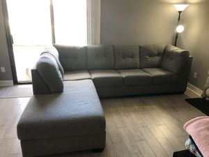 Grey Sectional Couch for Sale in San Bernardino, CA