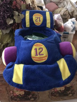 Adorable! Soft plush Race Car EAster Basket. for Sale in Gainesville, VA