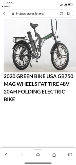 Electric folding bicycle 750 mag for Sale in Deerfield Beach, FL