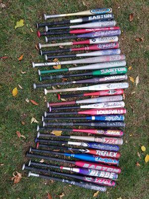 Baseball softball 28 bat lot Worth Louiseville Slugger TPX Easton for Sale in Hoffman Estates, IL