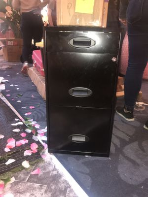 Black metal filing cabinet for Sale in New York, NY