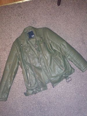 Mens leather motorcycle jacket (large for Sale in Spring Hill, FL