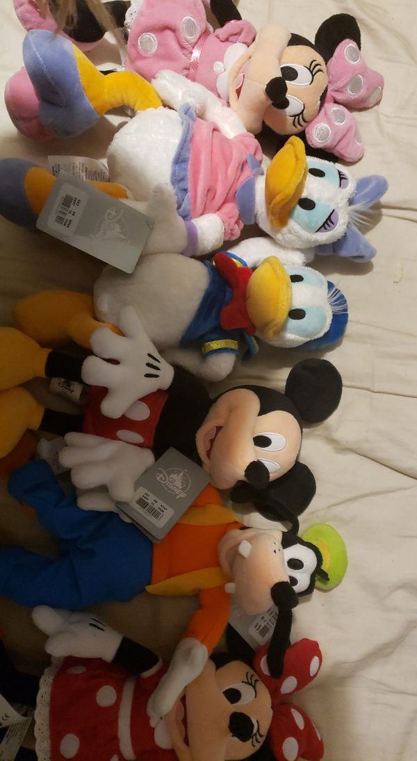 $9.5 each or $45 for all 6 Disney Plush Mickey Minnie Red Minnie Pink Goofy Daisy Duck Donald Duck