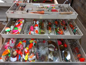 Salmon tackle box for Sale in Milwaukie, OR
