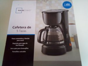 Mainstays 5 cup coffee maker! Brand New still in box! $12.00! You can't pass a deal up like this! Makes the perfect gift! Still in box untouched! for Sale in Everett, WA