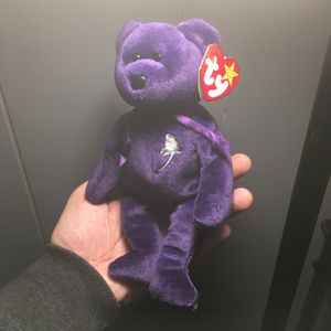 Mint Condition ty Beanie Baby Princess Diana Bear for Sale in Port Jefferson Station, NY