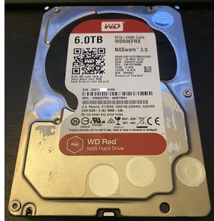 6TB Western Digital Red Drive (Crystal Disk Report Inside) for Sale in Camarillo, CA