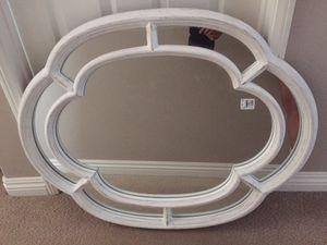 Farmhouse / shabby chic white mirror for Sale in Irvine, CA