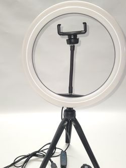 """LED 10""""In Ring Light with Desktop Tripod Stand, Makeup Ring Light with 3 Light Modes & Brightness Level, Flexible Phone Holder for Sale in Las Vegas,  NV"""