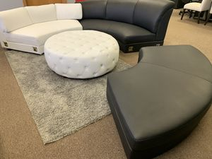 Leather round sofa pieces for Sale in Erie, PA