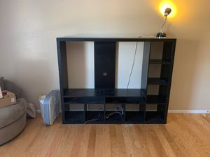 TV STAND IKEA(black) minimal use for Sale in San Antonio, TX