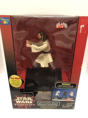 Star Wars Qui Gon Interactive Talking Bank for Sale in Irvine, CA