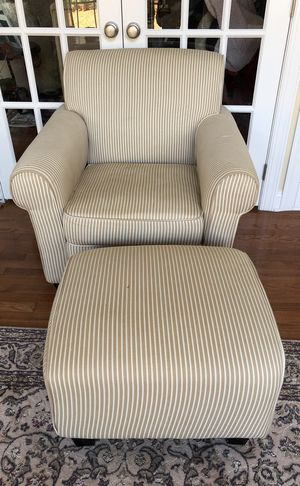 Chair with matching Ottoman for Sale in Ashburn, VA