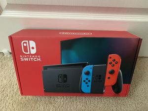 NEW - Nintendo Switch with Red/Blue Joycons for Sale in Troy, MI