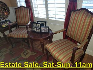 2 Ethan Allen Chairs. Great Shape. Estate Sale. Sat 11am - $199 for Sale in Sanger, CA