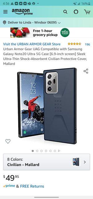 UAG Civilian case for Galaxy Note 20 Ultra (mallard) color for Sale in Windsor, CT