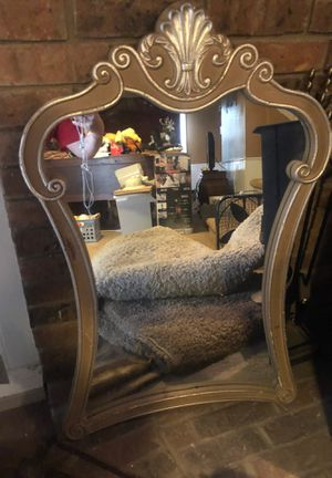 Very cool antique actually possibly antique mirror not sure very nice very Victorian looking. Beautiful mirror. for Sale in Overland Park, KS