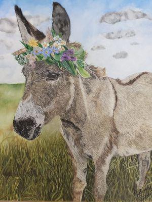 Donkey Artwork- original drawing for Sale in Wetumpka, AL