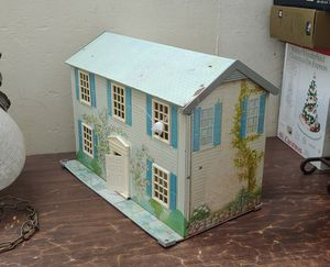 Vintage dollhouse metal tin with litho print made in the USA for Sale in Orange, CA