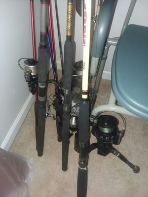 Assorted fishing poles 1 price for Sale in Meherrin, VA