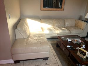 Leather sectional couch for Sale in Newark, CA