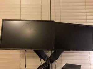 Sceptre monitors and wali stand for Sale in Tempe, AZ