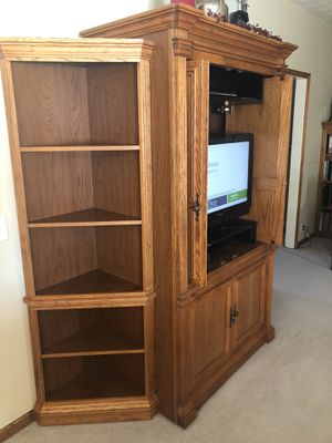 Oak Entertainment Center for Sale in Omaha, NE