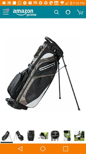 Brand new in box golf bag cart black and gray customizable for Sale in Bronx, NY