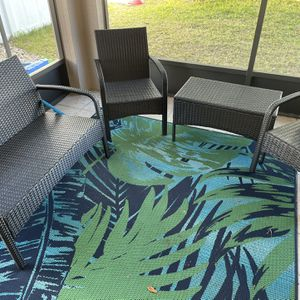Patio Furniture + Outdoor Rug for Sale in Orlando, FL