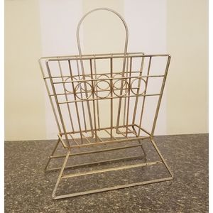 Mid-Century Gold Magazine Holder Rack for Sale in WARRENSVL HTS, OH