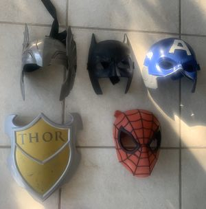 5 Piece Super Hero Masks for Sale in Longwood, FL