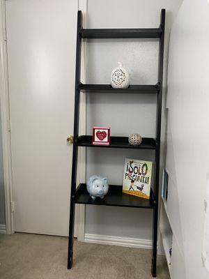 Wall Black ladder shelf for Sale in Richardson, TX
