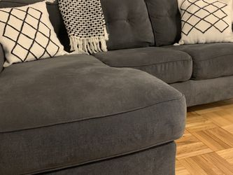Gray 3 Seat couch; Reversible Chaise for Sale in Brooklyn,  NY