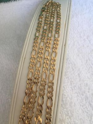 24inch figaro link chain 18K GOLD FILLED for Sale in Las Vegas, NV