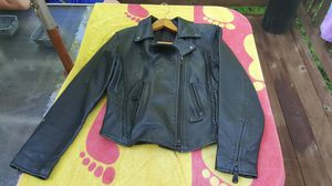 Woman's leather biker jacket for Sale in Ballwin, MO