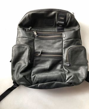 TUMI LEATHER KNOX BACKPACK BLACK BAG ALPHA BRAVO 92681DH EXCELLENT CONDITION for Sale in New York, NY
