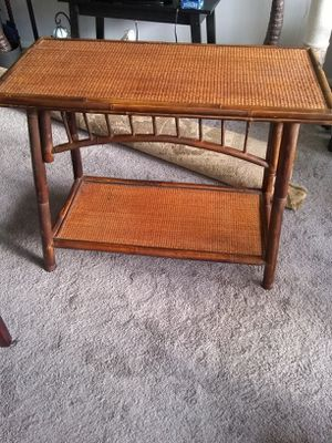Bamboo and wicker stand 36 L29 H17 for Sale in Alexandria, VA