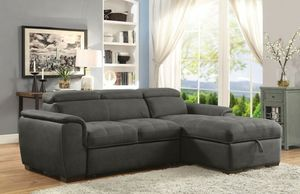 Graphite convertible pullout sofa bed couch sectional No Credit Needed No Credit Check Apply Today for Sale in Downey, CA