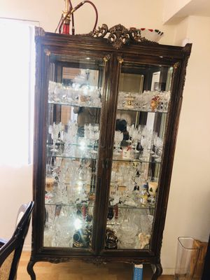 Brown antique 'CHINA' cabinet for Sale in Glendale, CA