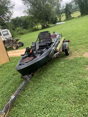 Old town predator pdl kayak and trailer for Sale in Long Valley, NJ