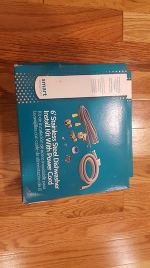 6'Stainless steel dishwasher install kit with cord for Sale in Silver Spring, MD