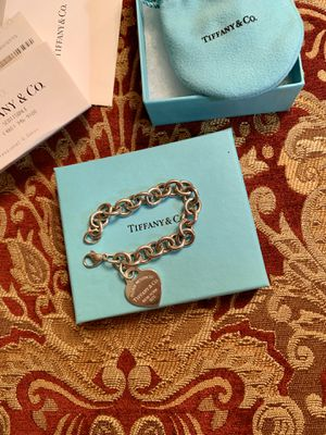 Tiffany and co heart tag bracelet 2 years old for Sale in Phoenix, AZ