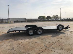 "2020 steel deck 82""x20' car hauler, car trailer, toy hauler, trailer,side by side , sxs for Sale in Hialeah, FL"